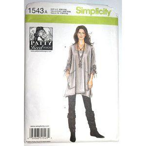 UNCUT Simplicity 1543 pattern top pants Patty Reed